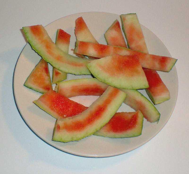 Reste einer Wassermelone