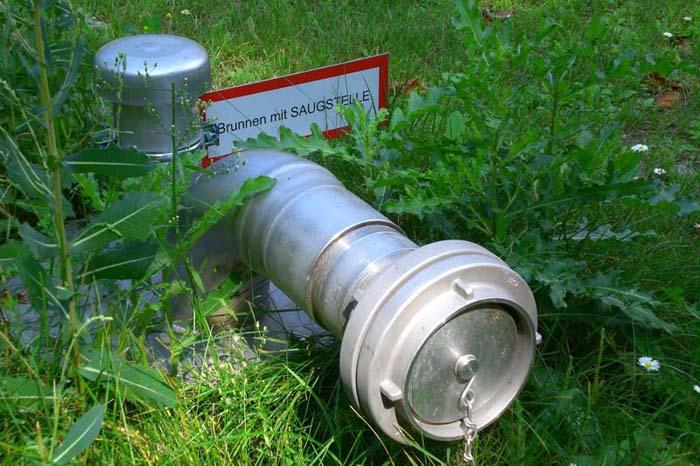 Brunnen mit Saugstelle